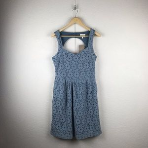Anthro l Deletta Retro Peek-a-Boo Blue Lace Dress